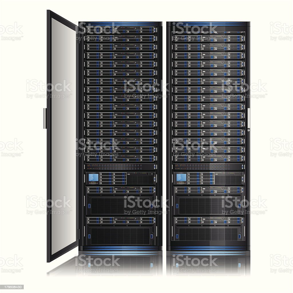 Networkserver vector art illustration