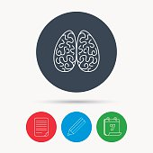 Neurology icon. Human brain sign.