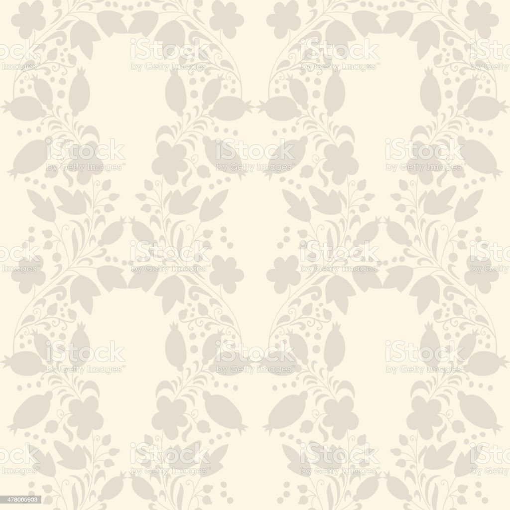 neutral floral background. swirl and curve royalty-free stock vector art