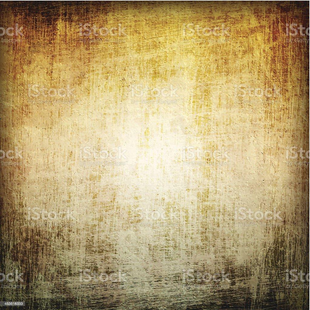 Neutral grunge background with dark edges vector art illustration