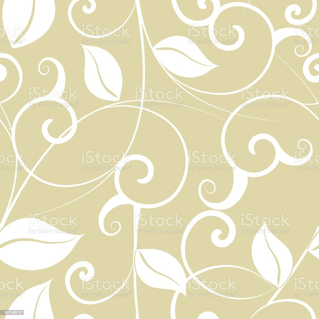 Neutral Toned Vintage Wallpaper Pattern royalty-free stock vector art