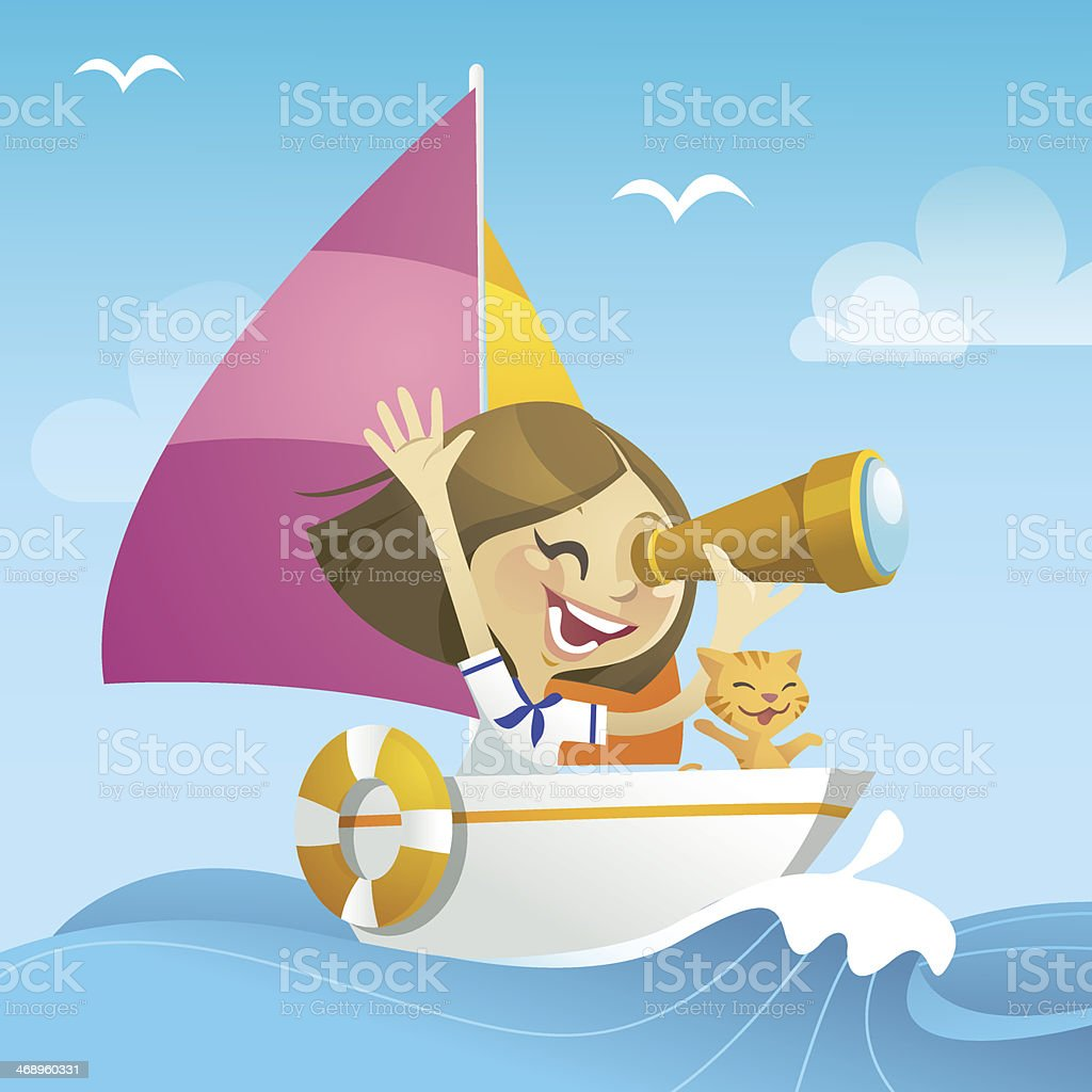New Adventure (Girl) royalty-free stock vector art