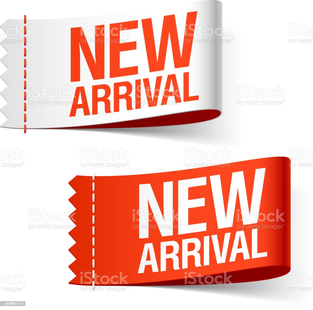 New arrival labels vector art illustration