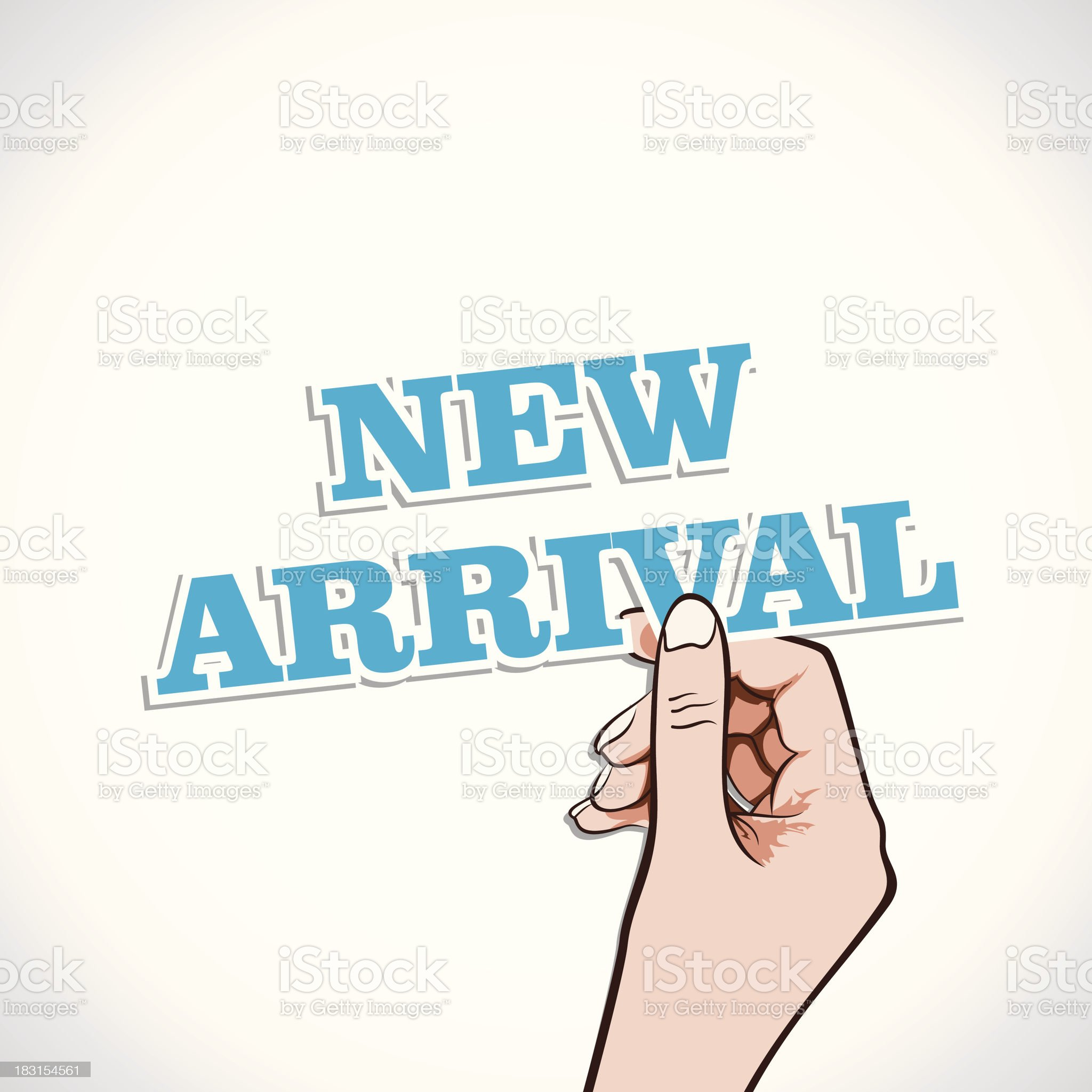 new arrival royalty-free stock vector art