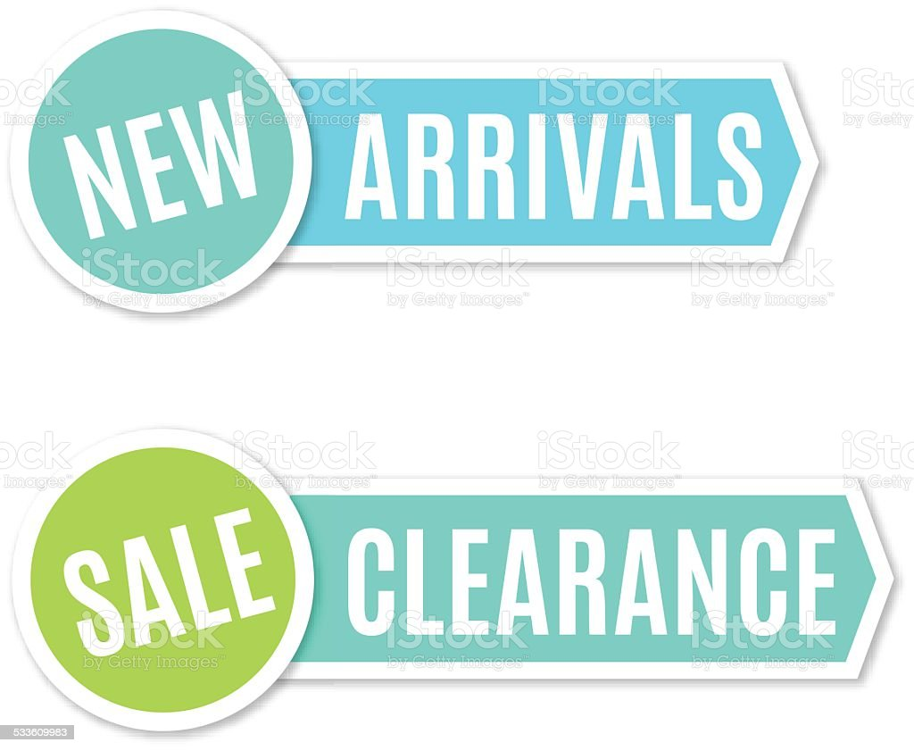 New arrivals and clearance sign - VECTOR vector art illustration