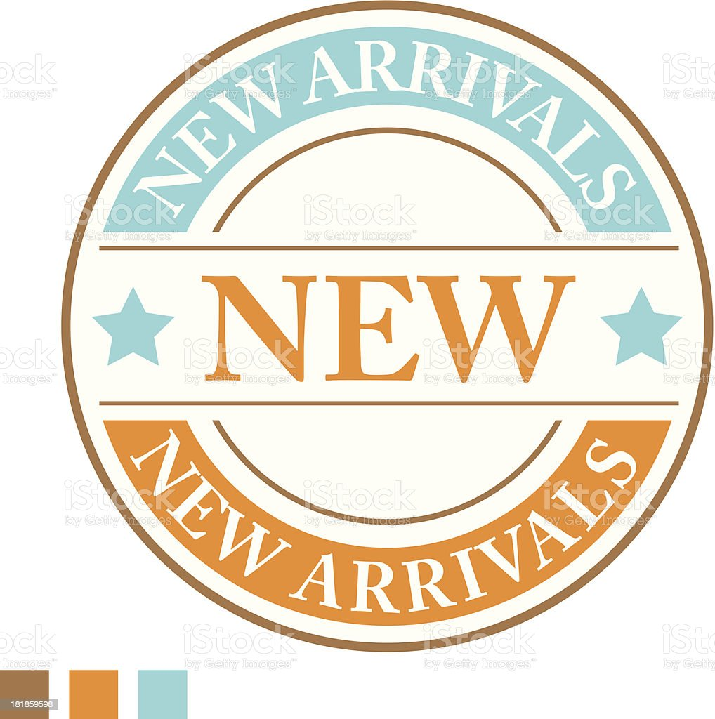 New arrivals sign - VECTOR royalty-free stock vector art