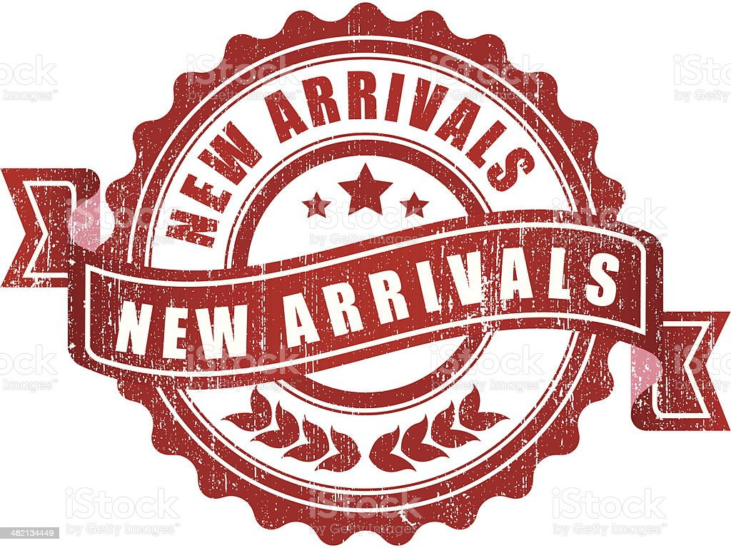 New arrivals sign - VECTOR vector art illustration