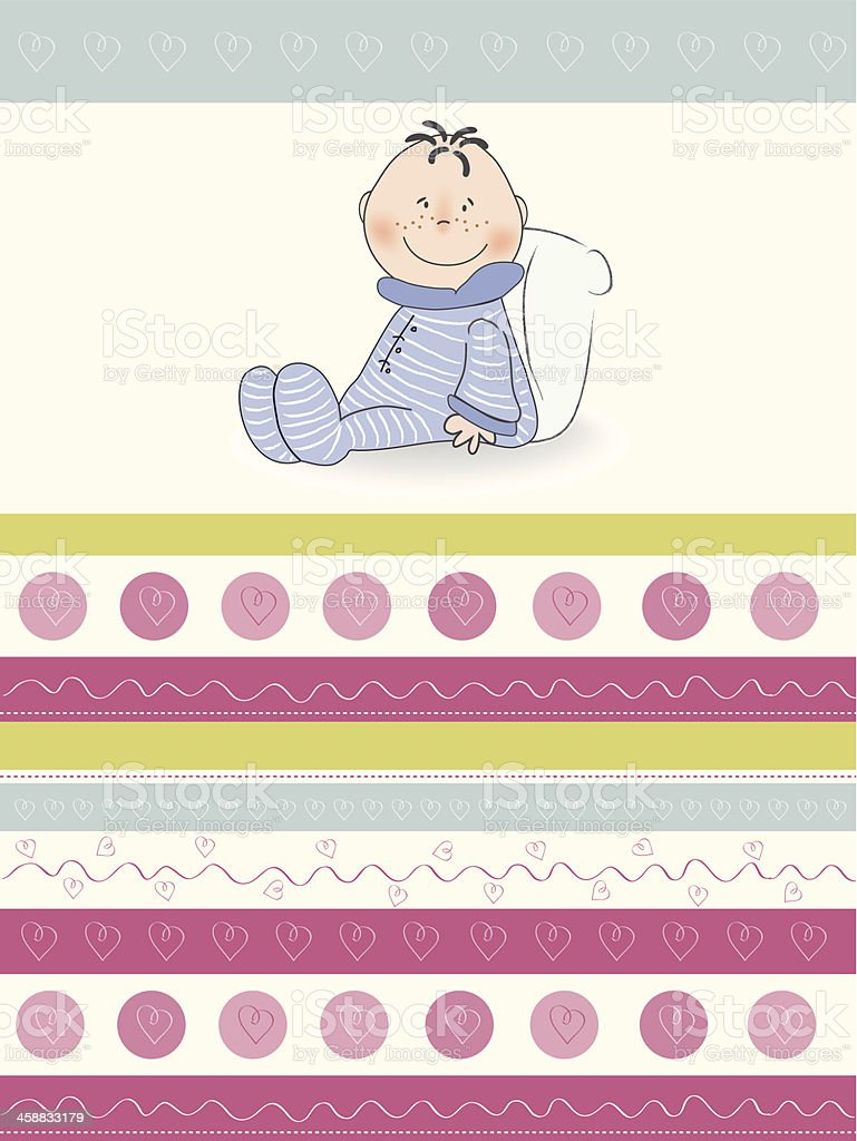 new baby announcement card royalty-free stock vector art