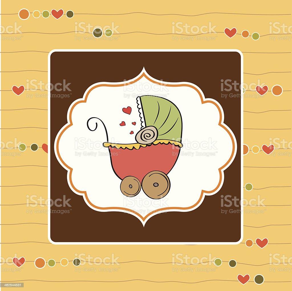 new baby announcement card vector art illustration