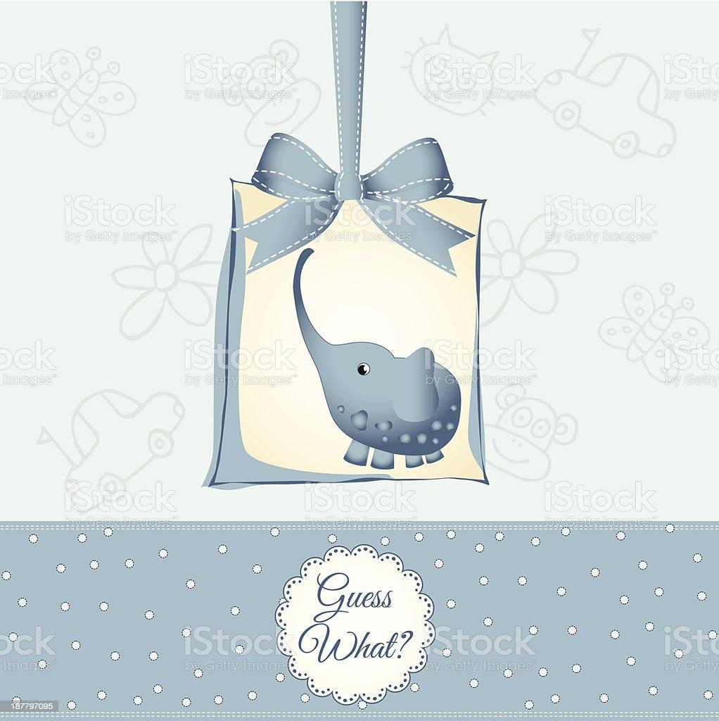 New Baby Boy Announcement Card stock vector art 187797095 – New Baby Boy Announcement