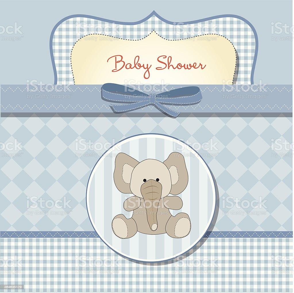 New Baby Boy Announcement Card stock vector art 464635129 – New Baby Boy Announcement