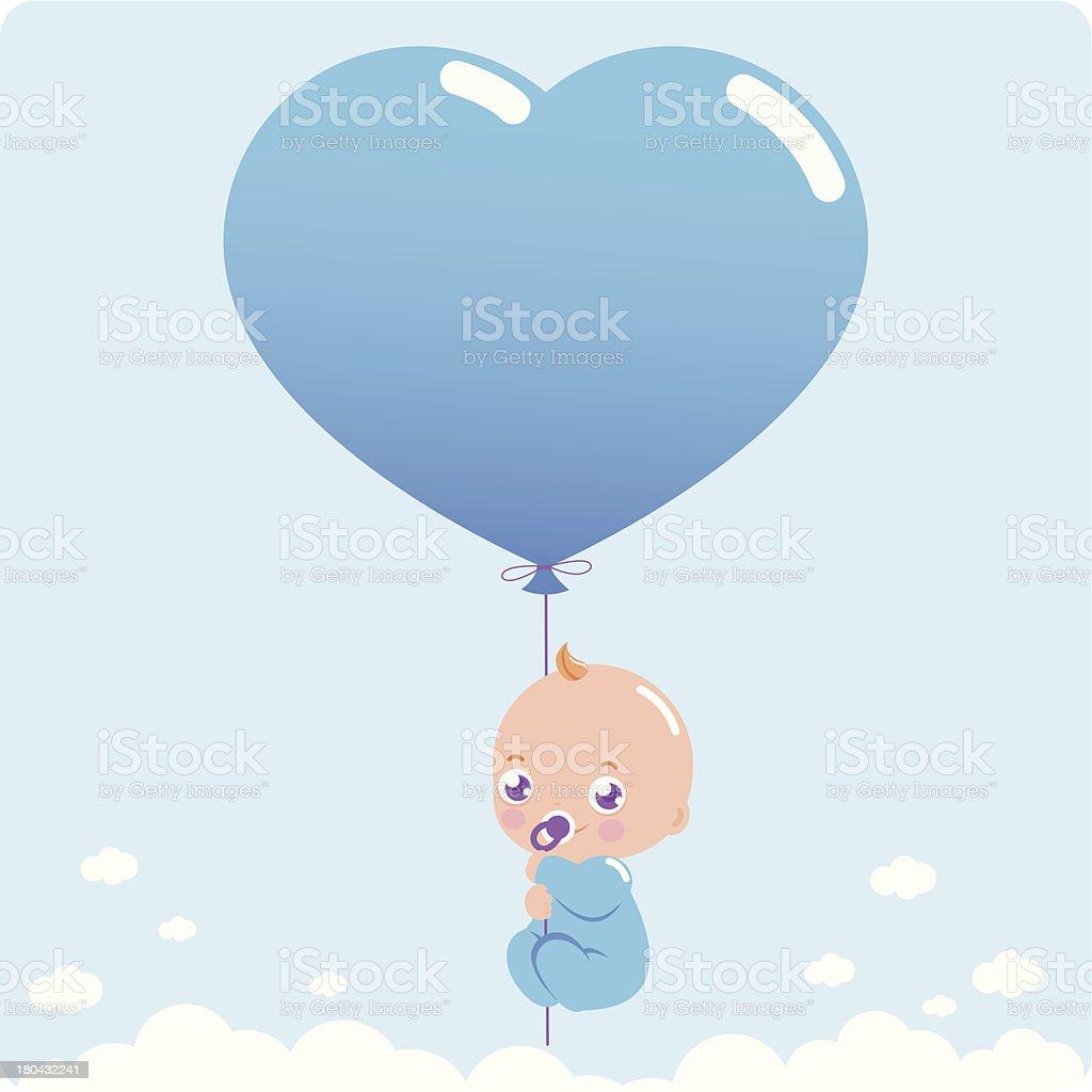 New baby boy royalty-free stock vector art