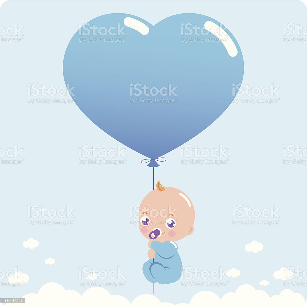 New baby boy vector art illustration