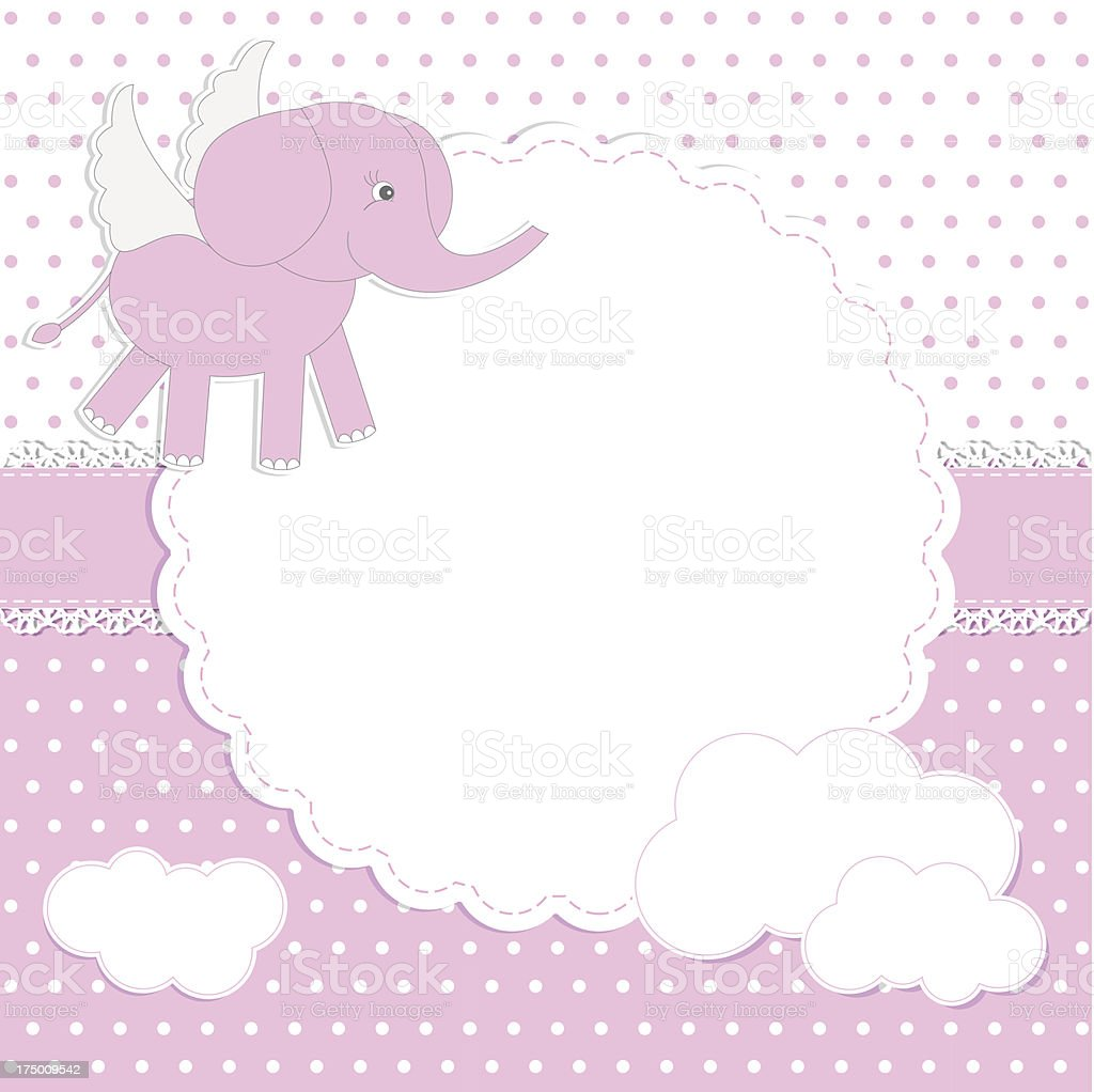 New baby girl shower invitation card royalty-free stock vector art