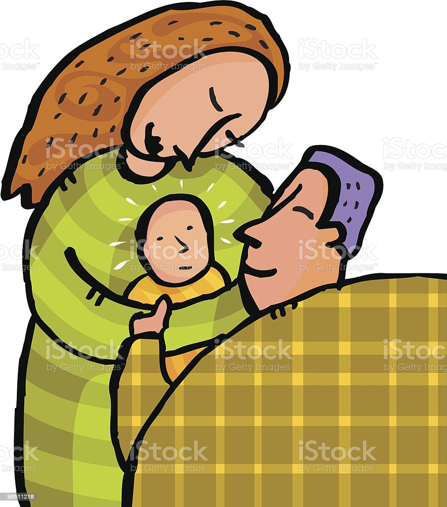 New baby royalty-free stock vector art