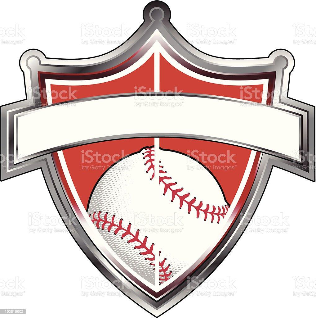 New Baseball Shield royalty-free stock vector art
