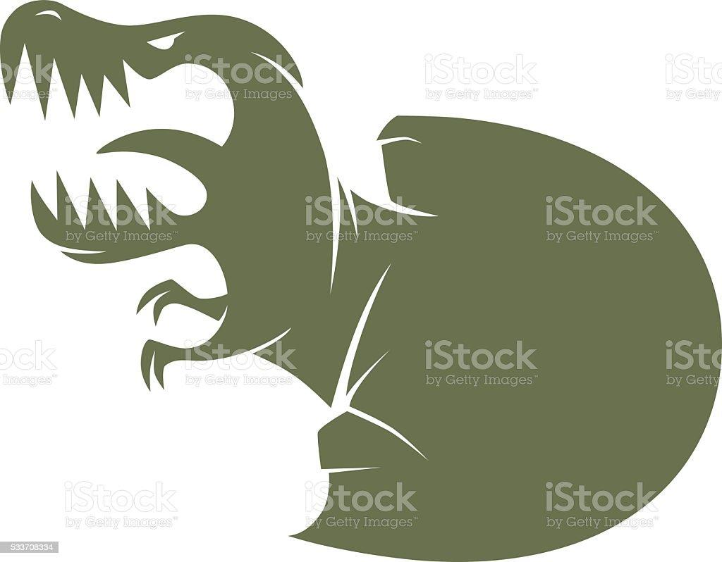 new born dinosaur vector art illustration