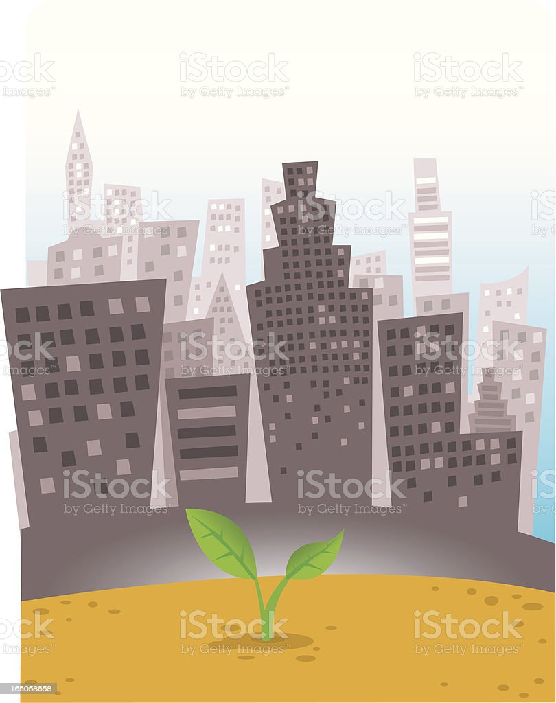 New born in the city vector art illustration
