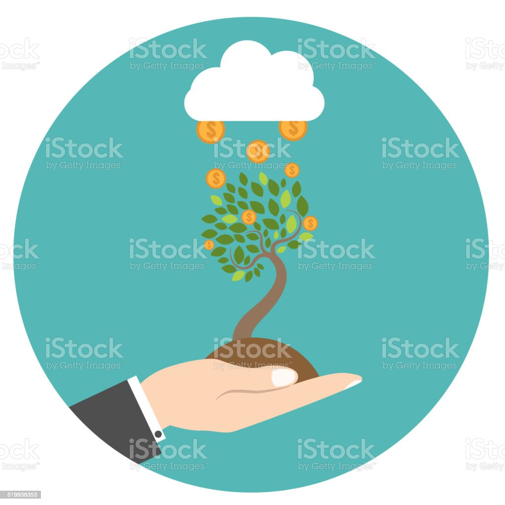 New business model. New business project start up. vector art illustration