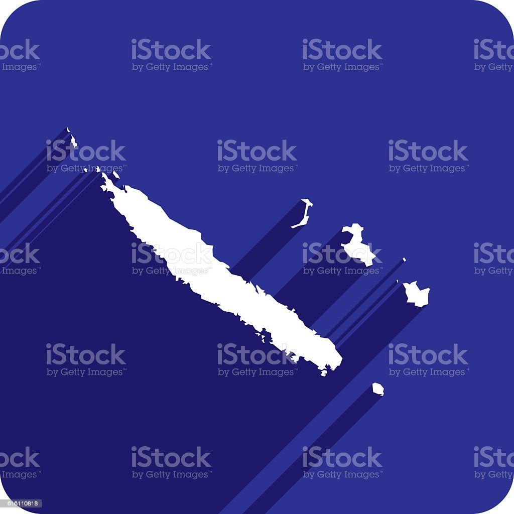 New Caledonia Icon Silhouette vector art illustration