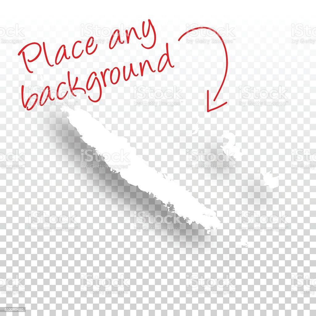 New Caledonia Map for design - Blank Background vector art illustration