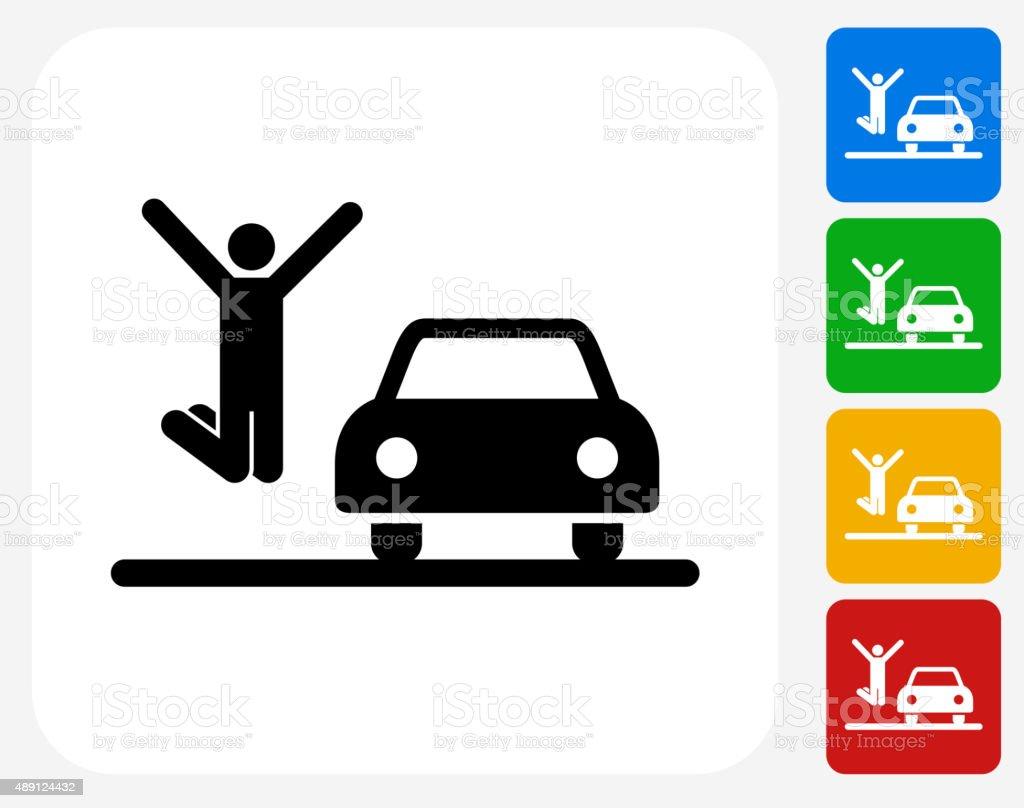 New Car Icon Flat Graphic Design vector art illustration