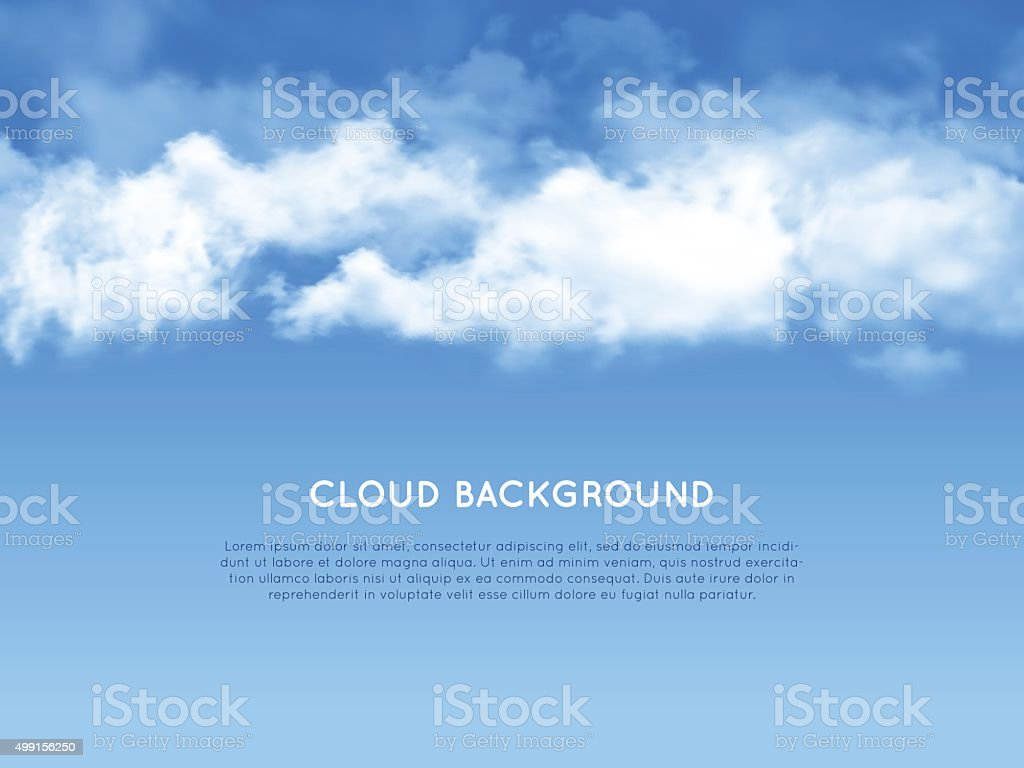 New cloud realistic background vector art illustration