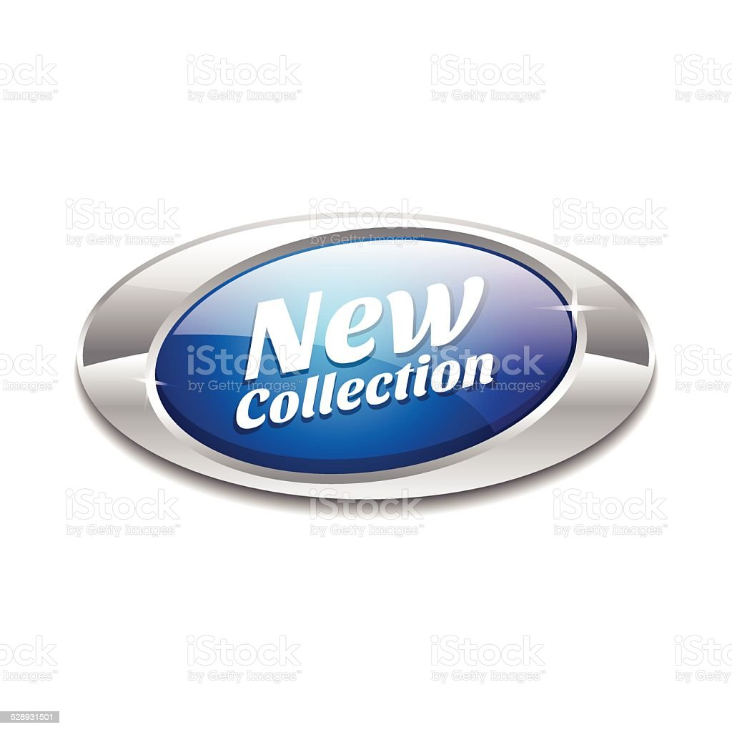 New Collection Glossy Shiny Elliptical Vector Button vector art illustration