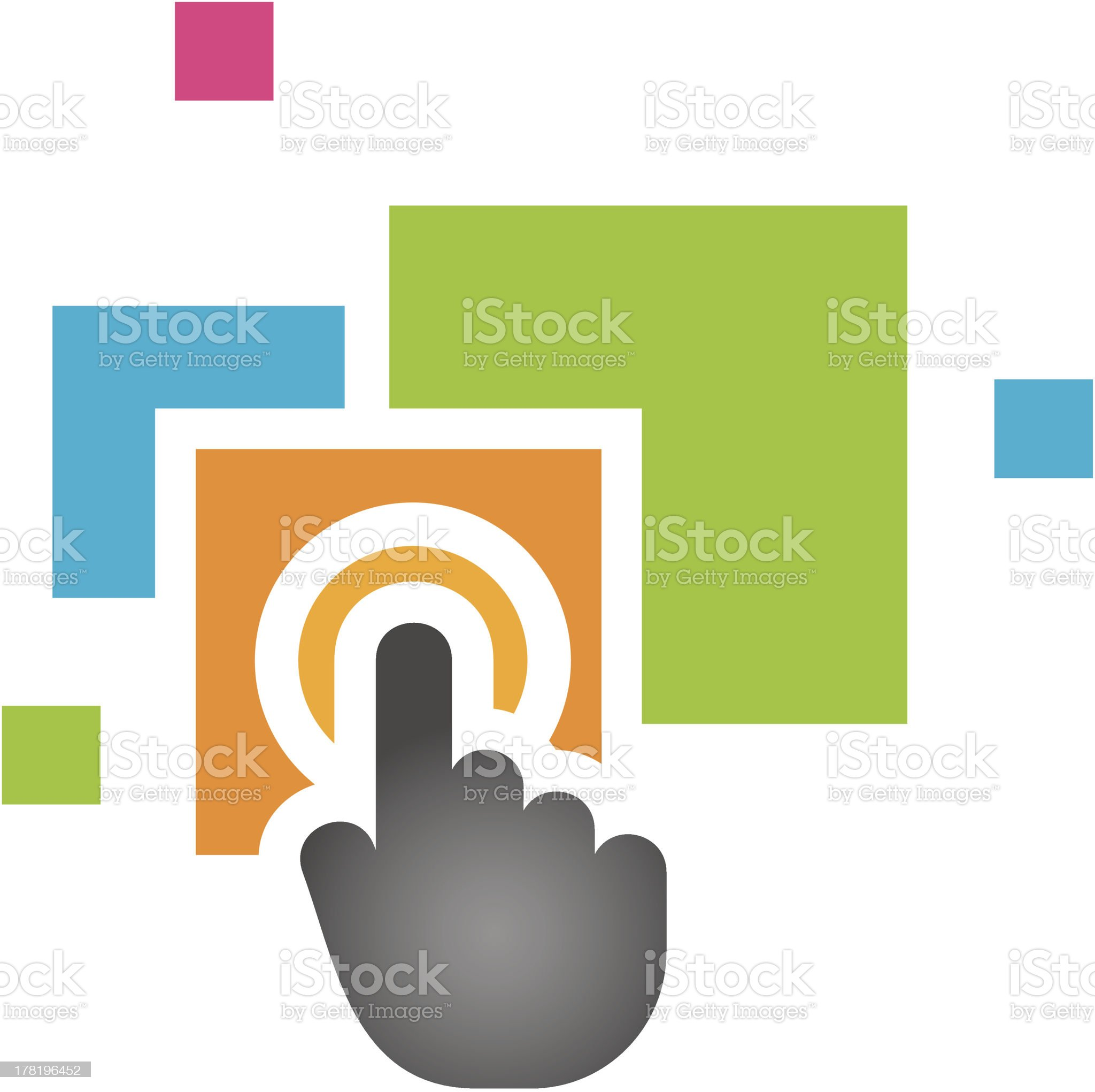 New colorful high tech application symbol and logo template royalty-free stock vector art