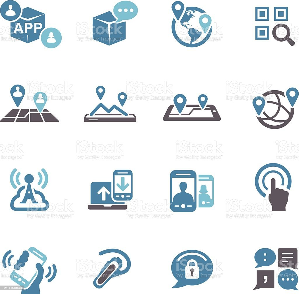 New Communication and Location Icons - Conc Series vector art illustration