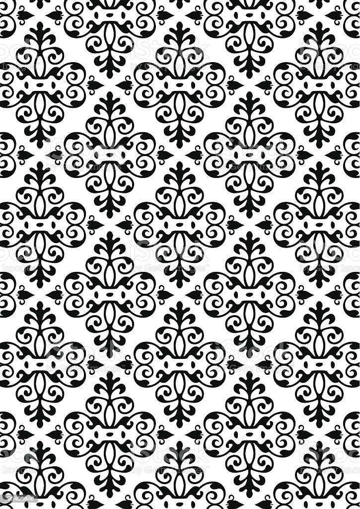 New Damask Style Pattern royalty-free stock vector art