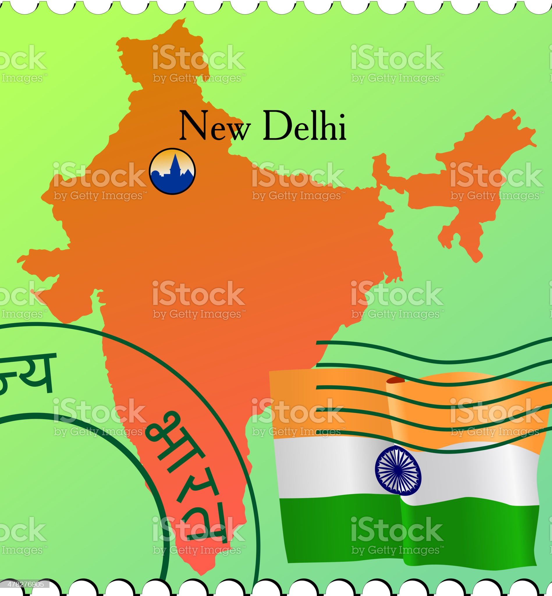 New Delhi - capital of India royalty-free stock vector art