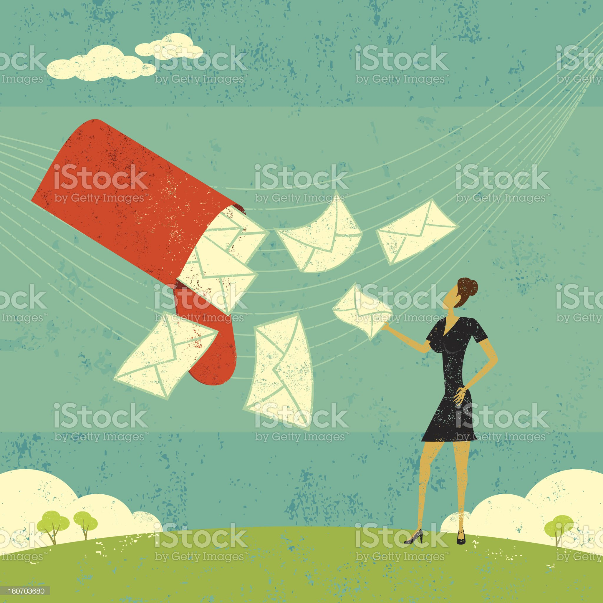 New Emails royalty-free stock vector art