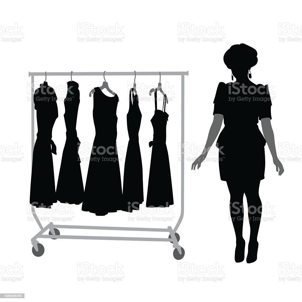 New Fashion And Clothes Silhouette Vector vector art illustration