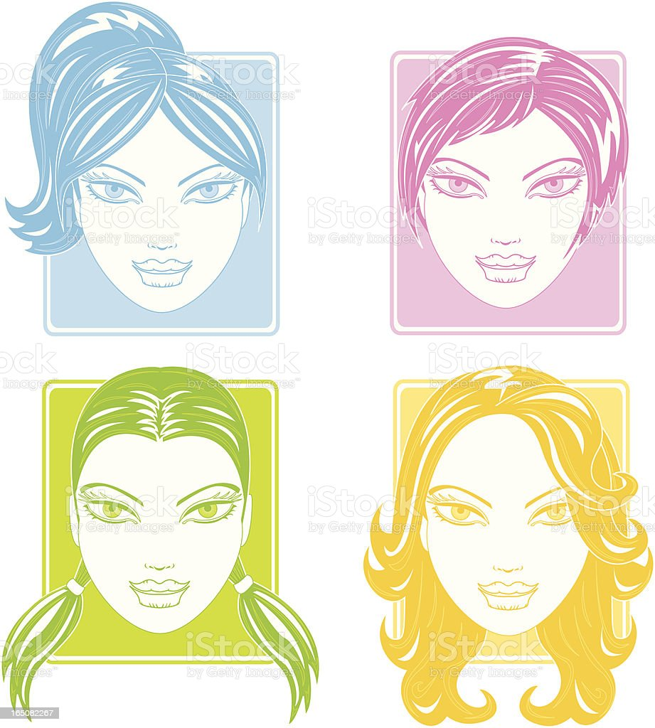 New hairstyle royalty-free stock vector art