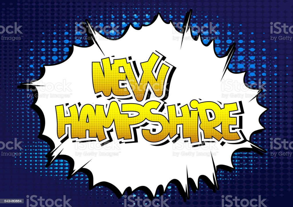 New Hampshire - Comic book style word. vector art illustration