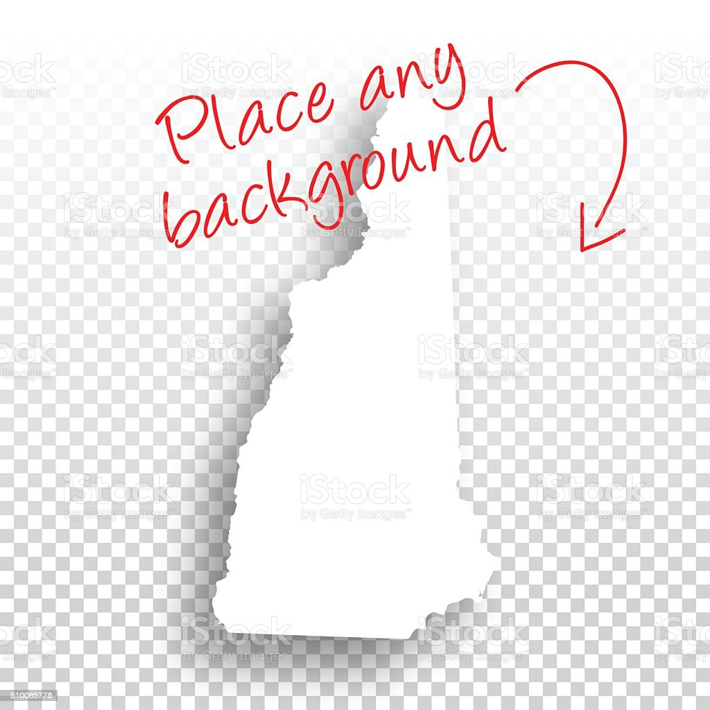 New Hampshire Map for design - Blank Background vector art illustration