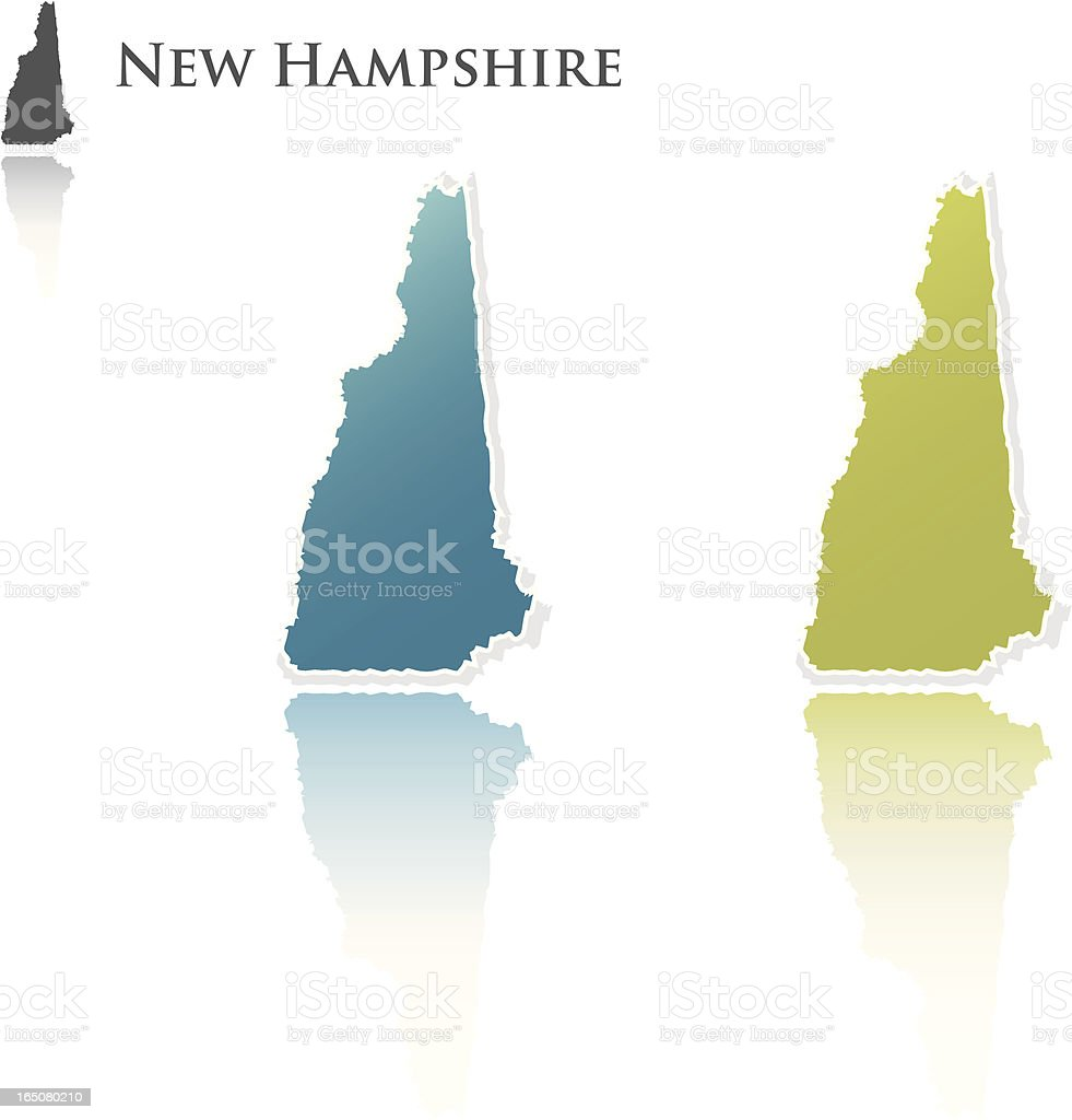 new hampshire state graphics royalty-free stock vector art