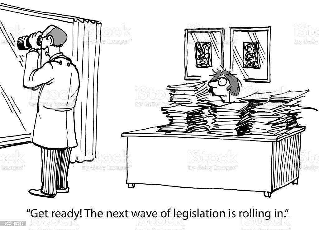 New Healthcare Legislation vector art illustration