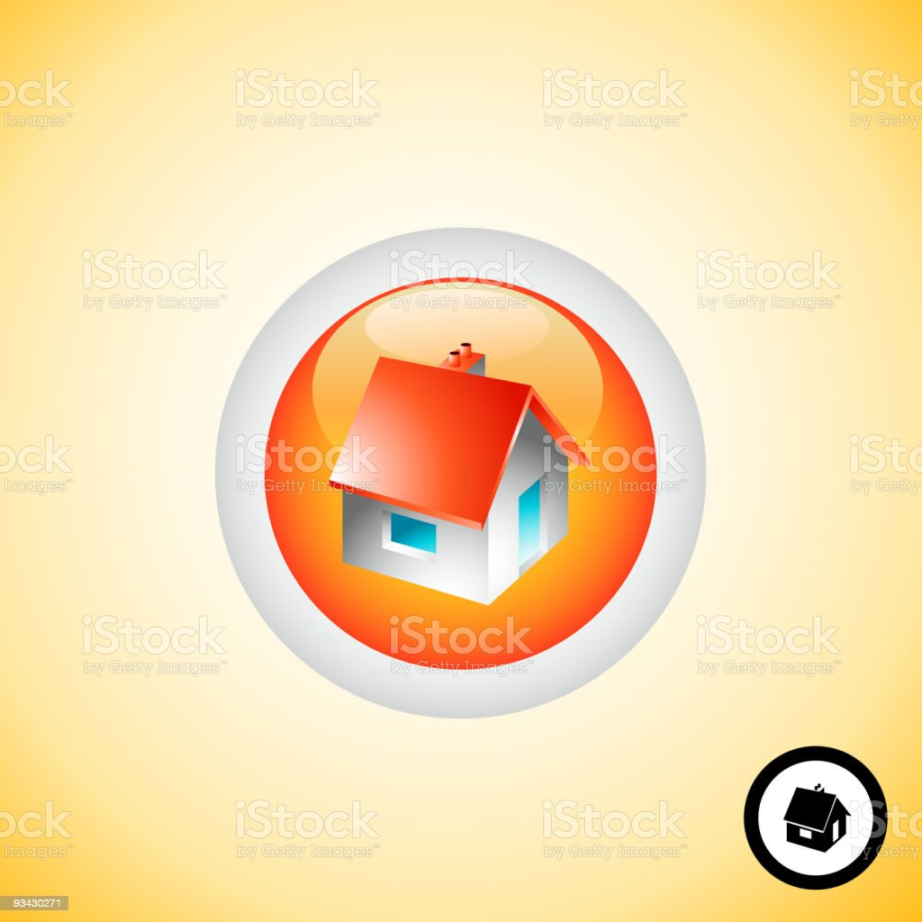 New home Button royalty-free stock vector art