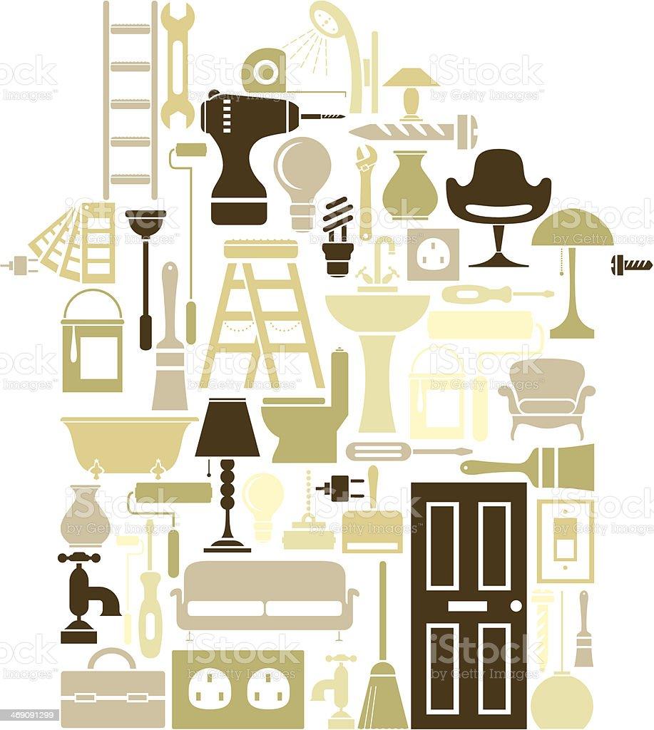 New Home vector art illustration