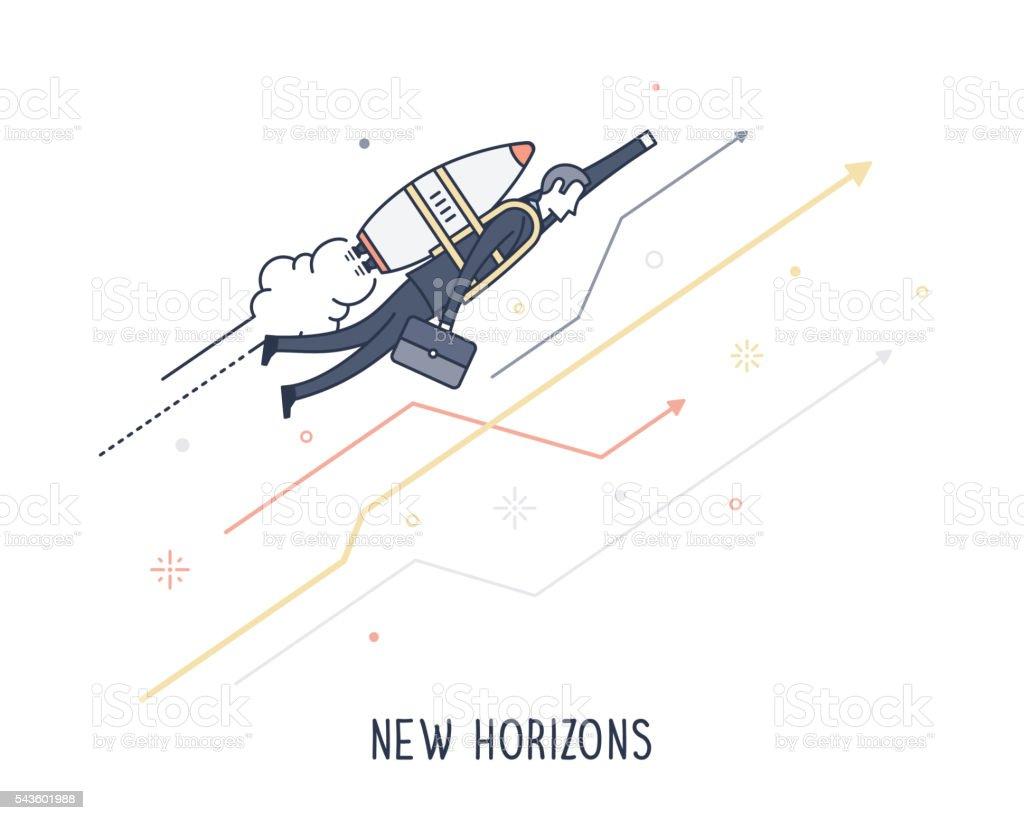 New Horizons vector art illustration