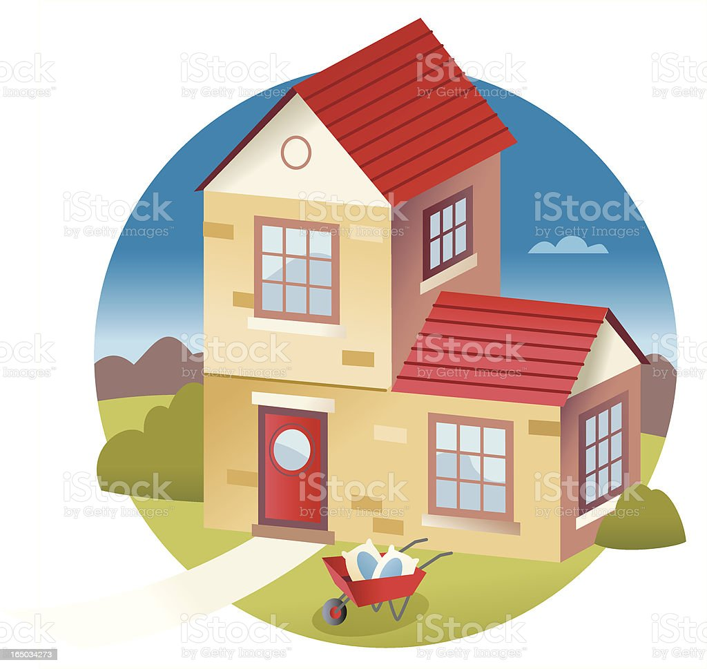 New House royalty-free stock vector art