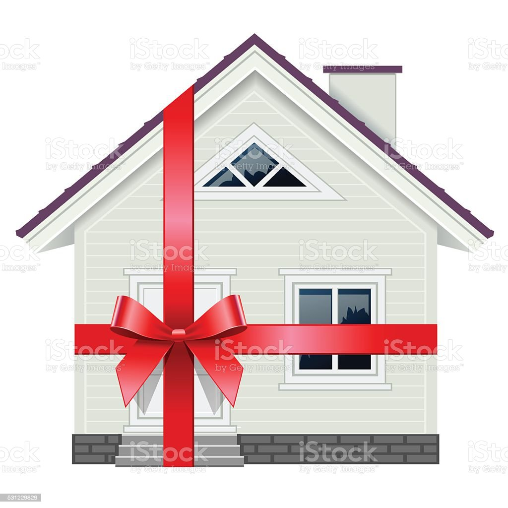 New House vector art illustration