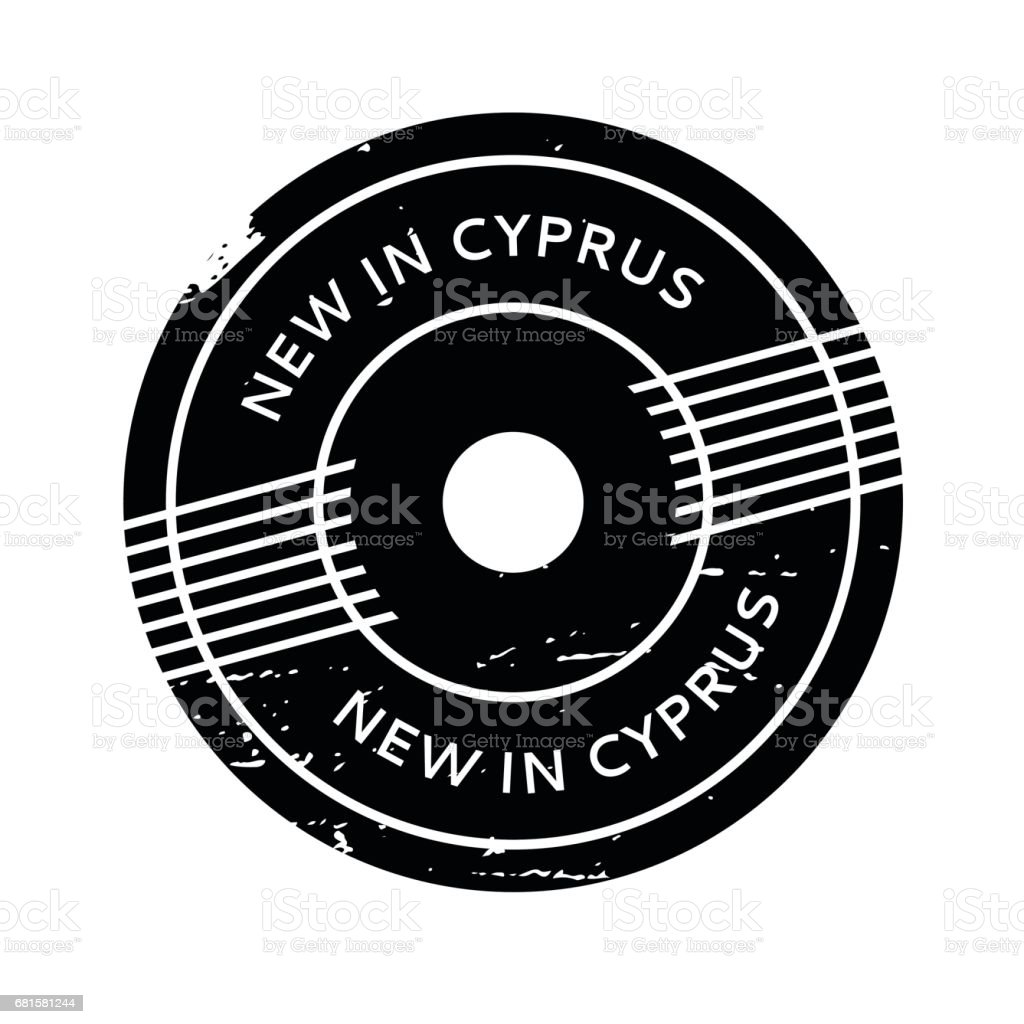 New In Cyprus rubber stamp vector art illustration