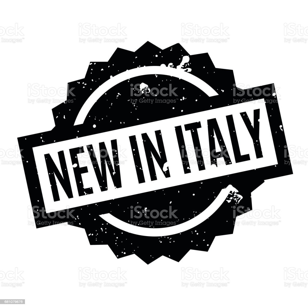 New In Italy rubber stamp vector art illustration