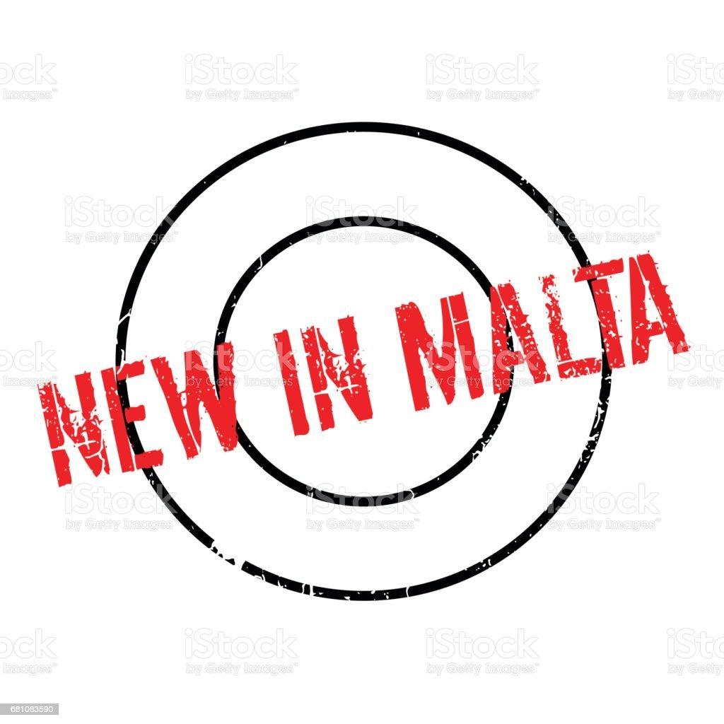 New In Malta rubber stamp vector art illustration