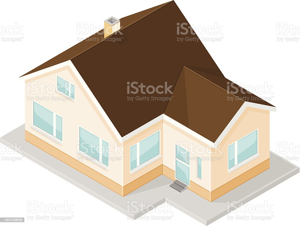 New Isometric Home Icon vector art illustration