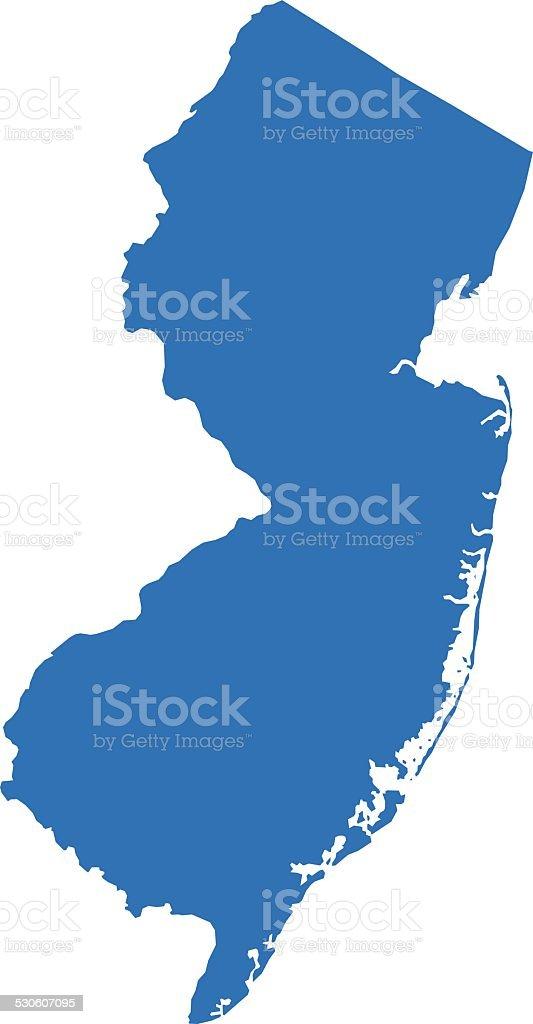 Mapa De Nueva Jersey Illustracion Libre De Derechos IStock - Mapa de new jersey
