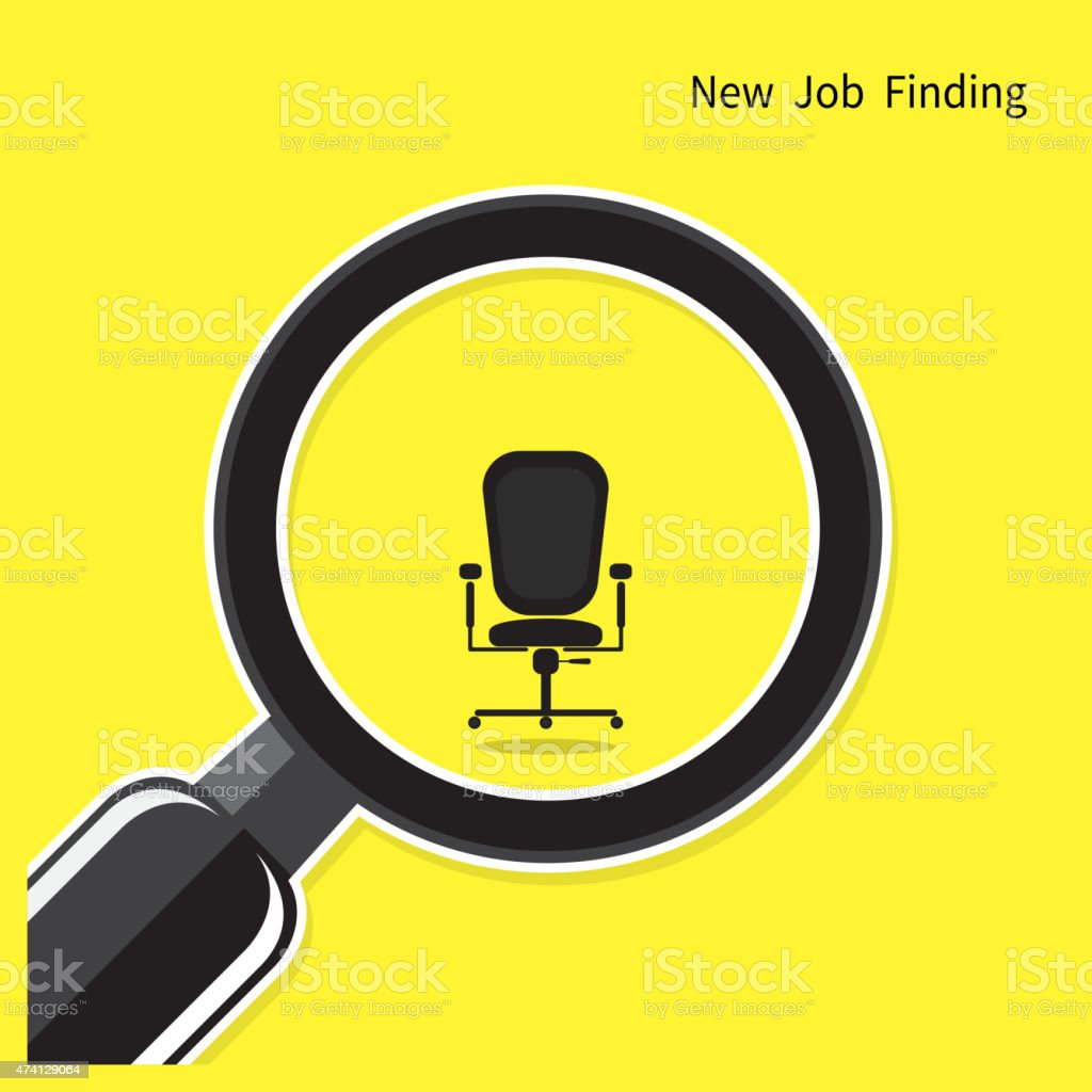 New job finding concept. Search for an employee vector art illustration